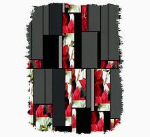 Mixed Color Poinsettias 2 Art Rectangles 7 Unisex T-Shirt