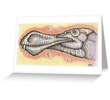 'A Giant Pterosaur' Greeting Card