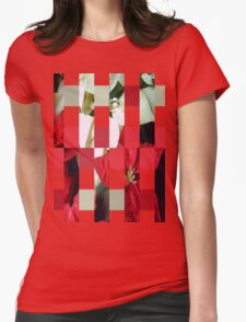 Mixed Color Poinsettias 2 Art Rectangles 15 Womens Fitted T-Shirt