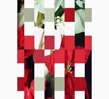Mixed Color Poinsettias 2 Art Rectangles 15 Unisex T-Shirt