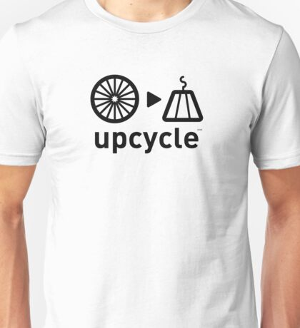 upcycle bicycle spokes  / black Unisex T-Shirt