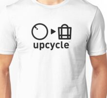 upcycle bicycle tube / black Unisex T-Shirt