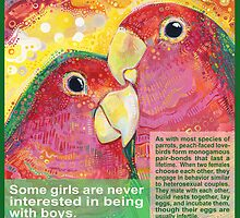 Polly want a Polly (Peach-faced lovebird) - POSTER by Gwenn Seemel