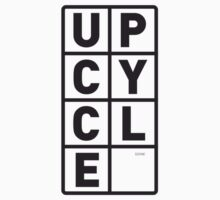 upcycle letters / black by glbrt
