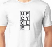 upcycle letters / black Unisex T-Shirt
