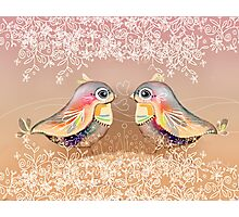 Exotic Peach Lovebirds Photographic Print