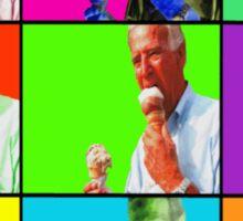 Joe Biden Ice Cream Pop Art Sticker