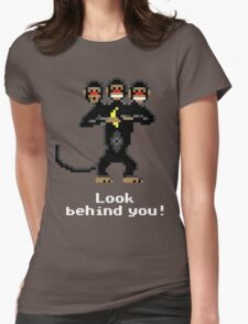 Three-Headed Monkey V2 Womens Fitted T-Shirt