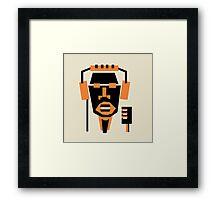 singer face Framed Print