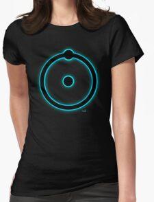 Blue hydrogen atom manhattan project Womens Fitted T-Shirt