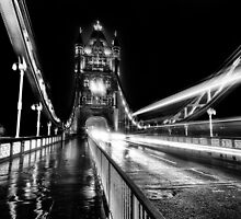 Tower Bridge London in Mono by Ian Hufton