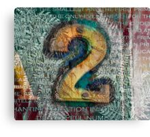 Two 2 Canvas Print