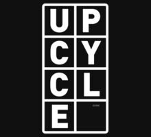 upcycle letters / white by glbrt