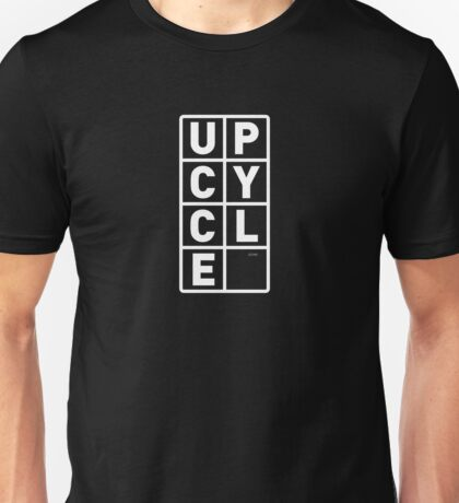 upcycle letters / white Unisex T-Shirt