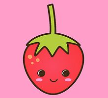 Cute Smiley Strawberry! by Sarah Champ