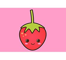 Cute Smiley Strawberry! Photographic Print