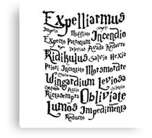 Harry Potter Magic Spells quote Canvas Print