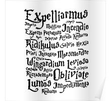 Harry Potter Magic Spells quote Poster