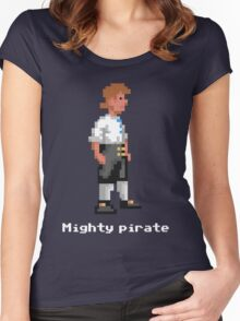 Mighty Pirate V2 Women's Fitted Scoop T-Shirt