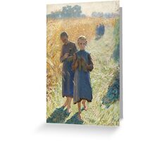 Emile Claus - Country Life Greeting Card