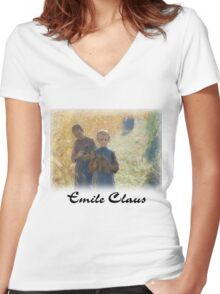 Emile Claus - Country Life Women's Fitted V-Neck T-Shirt