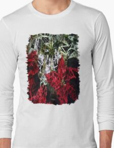 Mixed Color Poinsettias 2 Letters 2 Long Sleeve T-Shirt