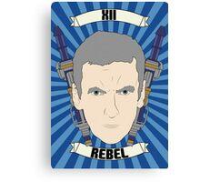 Doctor Who Portraits - Twelfth Doctor - Rebel Canvas Print