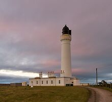 Covsea Lighthouse, winters night. by JASPERIMAGE