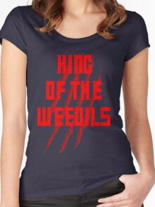 King of The Weevils (Red Words) - Torchwood Women's Fitted Scoop T-Shirt