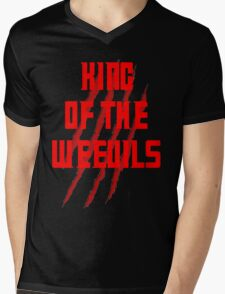 King of The Weevils (Red Words) - Torchwood Mens V-Neck T-Shirt