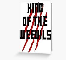 King of The Weevils (Print) - Torchwood Greeting Card