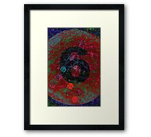 Number 6, six Framed Print