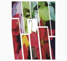 Mixed Color Poinsettias 2 Tinted 1 Kids Tee