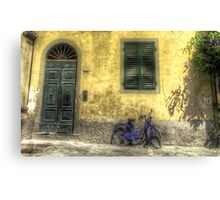 Blue Bike in Lucca Canvas Print