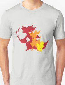Fennekin Braxian Delphox T-Shirt