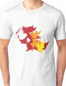 Fennekin Braxian Delphox Unisex T-Shirt