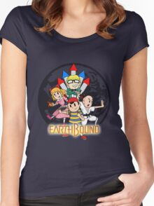Earthbound w/ Logo Women's Fitted Scoop T-Shirt