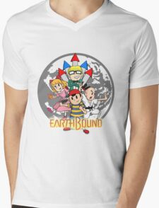 Earthbound w/ Logo Mens V-Neck T-Shirt
