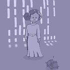 Leia on the Death Star by micknight