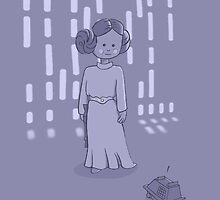Leia on the Death Star by Michelle Knight