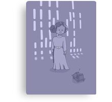 Leia on the Death Star Canvas Print