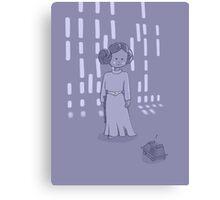 Leia on the Death Star Canvas Print
