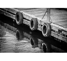 Dock Bumpers Photographic Print