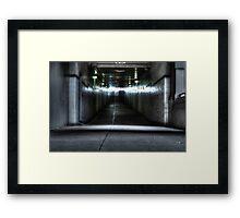 follow the light. Framed Print