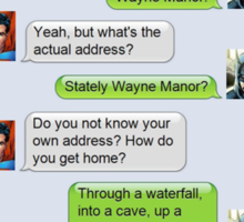 Batman/Superman - Address Sticker