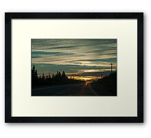 Sunset In Cape Breton Highlands National Park Framed Print