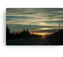 Sunset In Cape Breton Highlands National Park Canvas Print