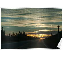 Sunset In Cape Breton Highlands National Park Poster