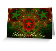 Christmas Stars Card Greeting Card