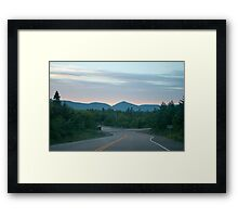 Mountains At South Harbour Framed Print